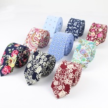 Men Fashion Necktie Casual Artificial Cotton Flower Roes Bow Tie Paisley Skinny Ties Small Design Cravat for Men