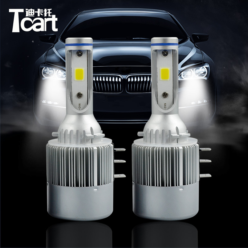 Tcart 1 Set Car Head Lights Auto Led Bulbs Led Headlights COB Chip Headlamp White C6 H15 High Beam 36W For VW Volkswagen Touran new car styling auto h4 led bulb h7 lighting car led 12v lights h4 h7 led lamps light bulbs headlights for cars led headlights