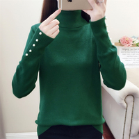 Fashion Knitted Sweater Women Pullover 2019 Autumn Winter Tops Turtleneck Women Knit Sweater Slim Jumpers Ladies Sweaters Coat