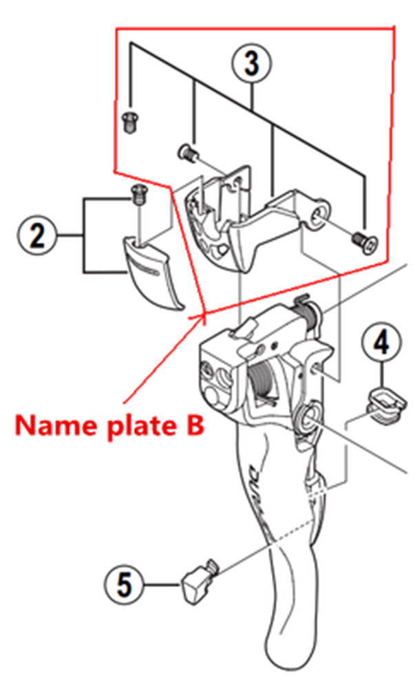 Shimano Dura-Ace ST-7900 Lever Side Plate Name Plate B w// Fixing Screw 7900 1pc