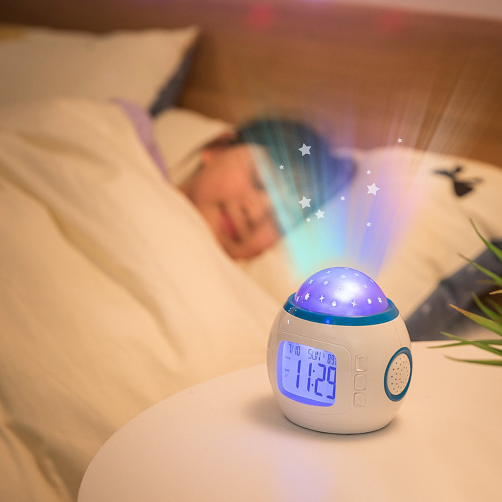 LED Rotating Star Light Colorful Starry Sky Projector Night Lamp For Children Bedroom Kids Sleeping Lamp Battery