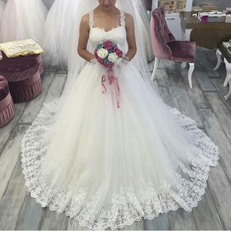 Wedding Ball Gowns With Straps: Aliexpress.com : Buy Ball Gown Princess 2018 Wedding