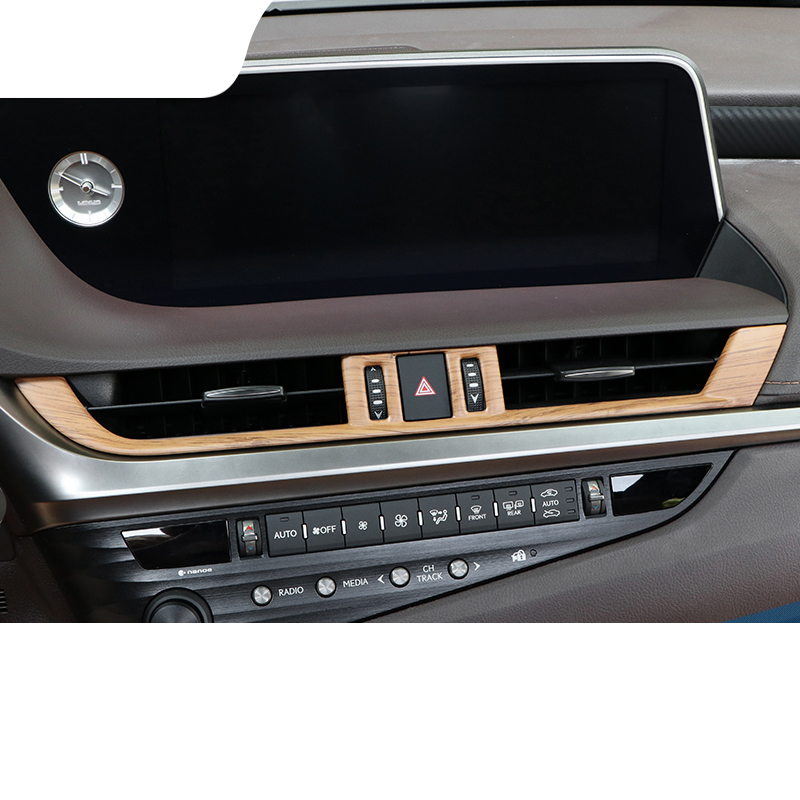 lsrtw2017 abs bamboo color car dashboard middle vent trims for lexus es200 es300h es260 2018 2019 2020lsrtw2017 abs bamboo color car dashboard middle vent trims for lexus es200 es300h es260 2018 2019 2020