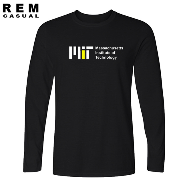 1e4e81a0 MIT t-shirts college wear tee school uniform Massachusetts Institute of  Technology clothes Long sleeve