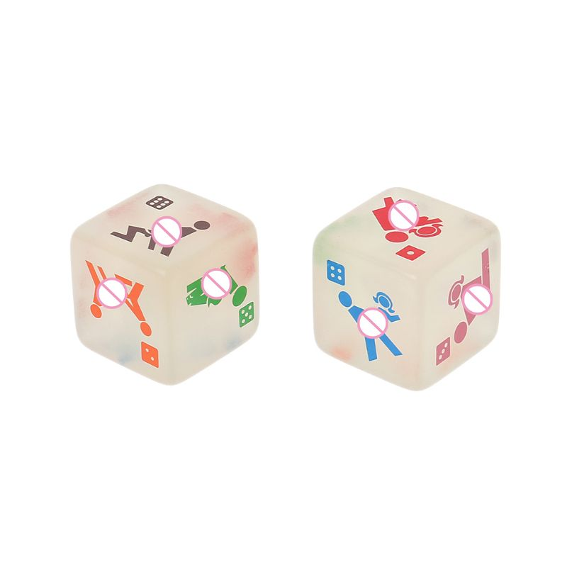 2pcs 25mm Noctilucent Dice Cube Adult Game Love Sex Dice Night Bar KTV Fun Game High Quality acrylic NoEnName_Null image