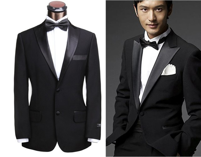 2014 Latest Fashion Dinner Suit Peak Lapel Men Prom Tuxedo Custom ...