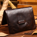 New High Quality Crazy Horse Genuine Leather Men Money Bag Card Case Pocket Holder Short Purse Mini Wallet