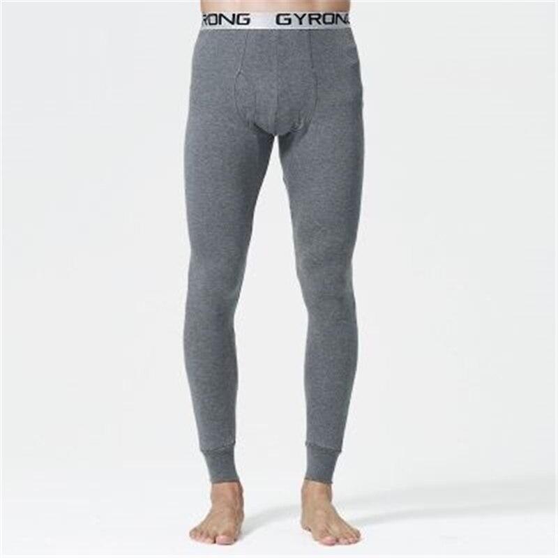 2018 nuevo Otoño e Invierno de los hombres largo johns 100% algodón ropa interior térmica pantalones 5 colores