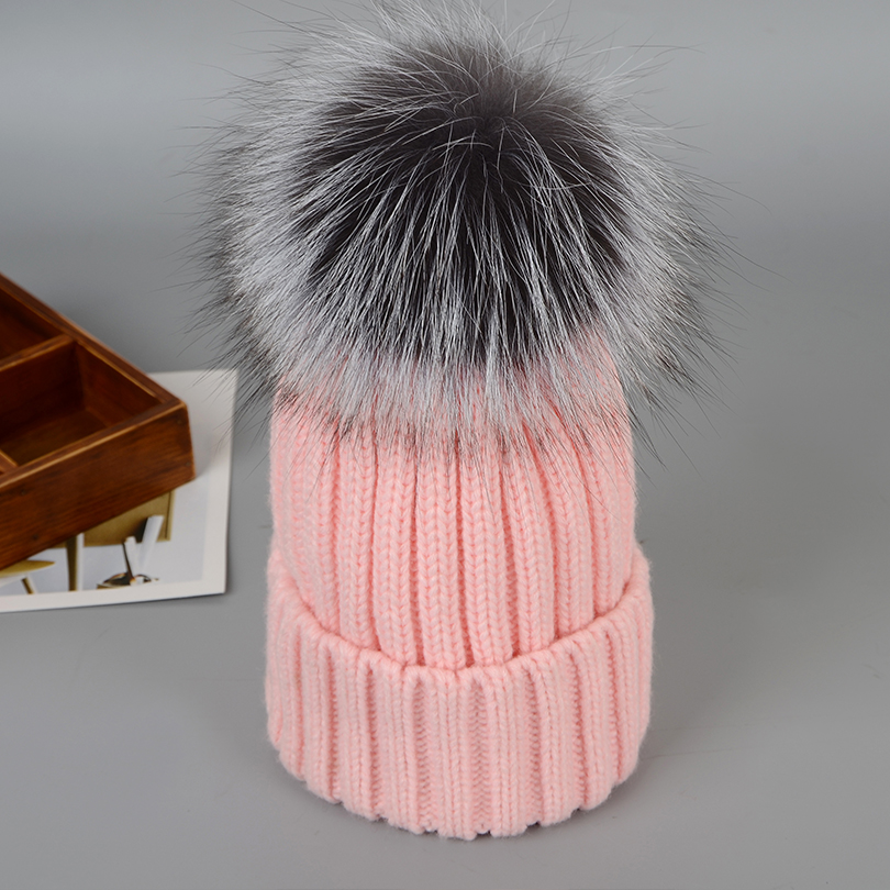 12 Styles hat cap Real Fox Fur Hats for women Female Beanies Pompom Hat Warm Knitted New Winter Fox Fur Beanies for Women caps kukilonglong winter warm caps for women knitted beanies cap brand new thick female cap fox fur ball double layer hats for girls