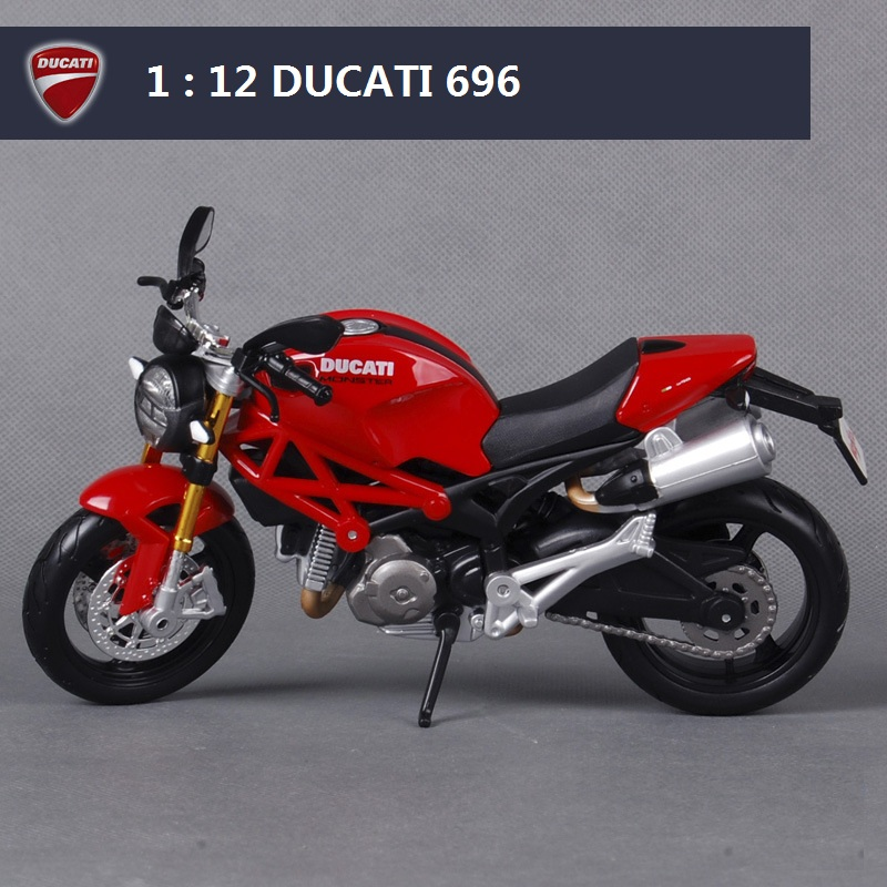 Maisto 1 12 Motorcycle Models For Ducati 696 Race Car Diecast