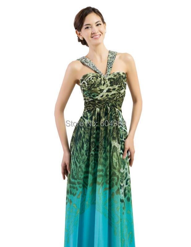 Grace Karin Blue Pattern Leopard Print Dress women Chiffon Padded Formal  Long Evening Dresses Gown 2015 backless Prom Dress 7546-in Evening Dresses  from ... f4b3d36cf