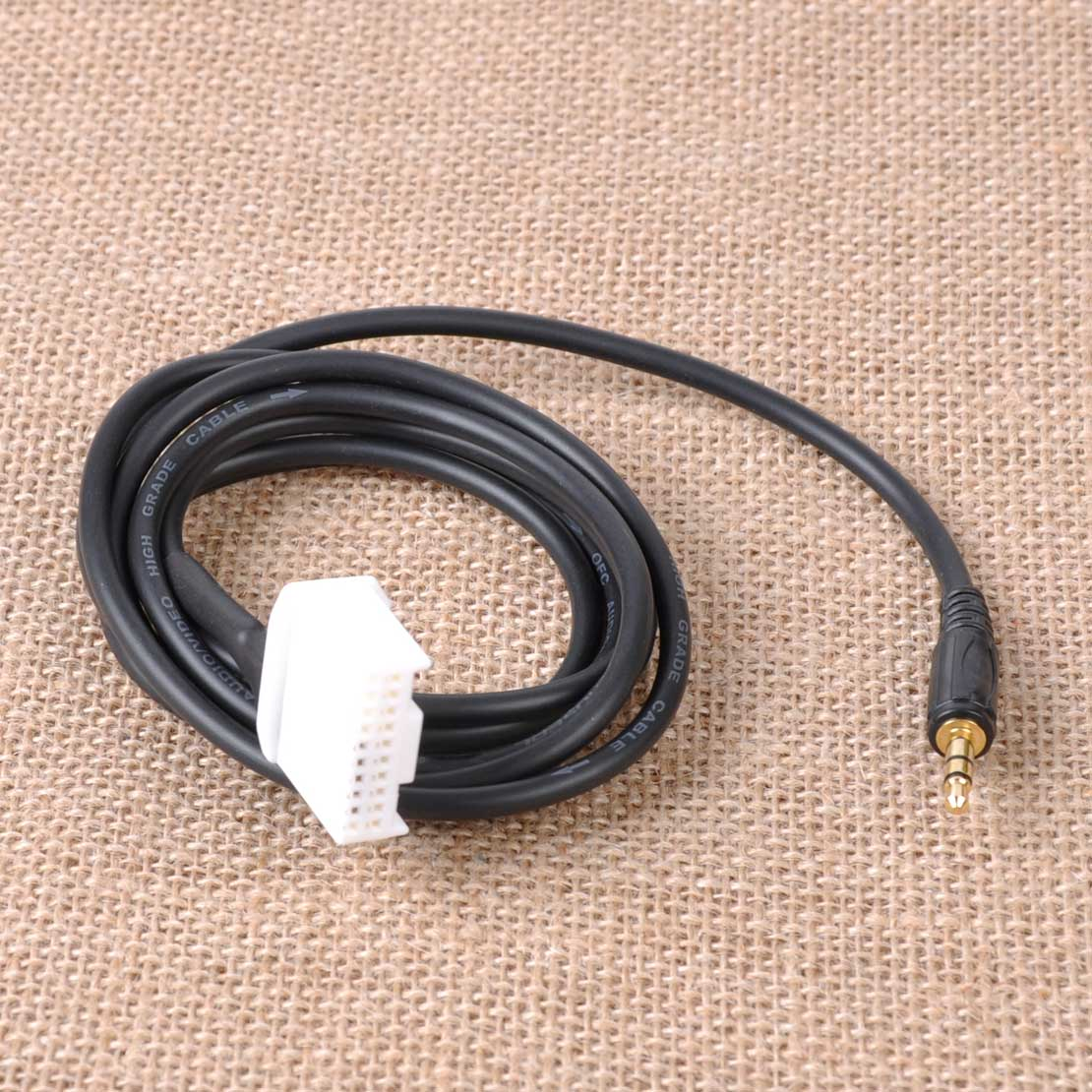 AUX Audio Input Cord Cable MP3 3.5mm Phone Male To USB Port Adapter For Toyota