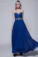 0065 Royal Blue Sexy Chiffon Plus Size Formal Gown Evening Dresses Fashional Design