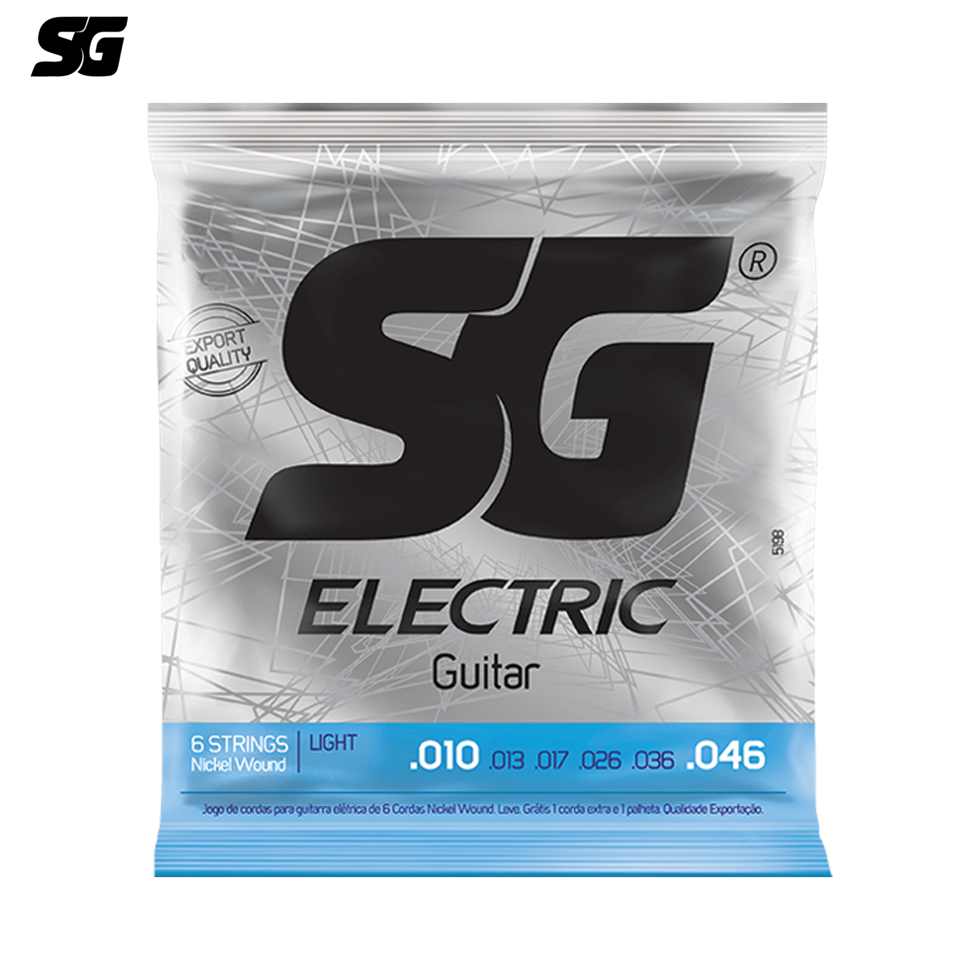 SG Brazil Electric Guitar Strings Steel Hexagonal Core 1 pcs Free Extra E String and Pick 010-046 inch Nickle Wound 5198EX