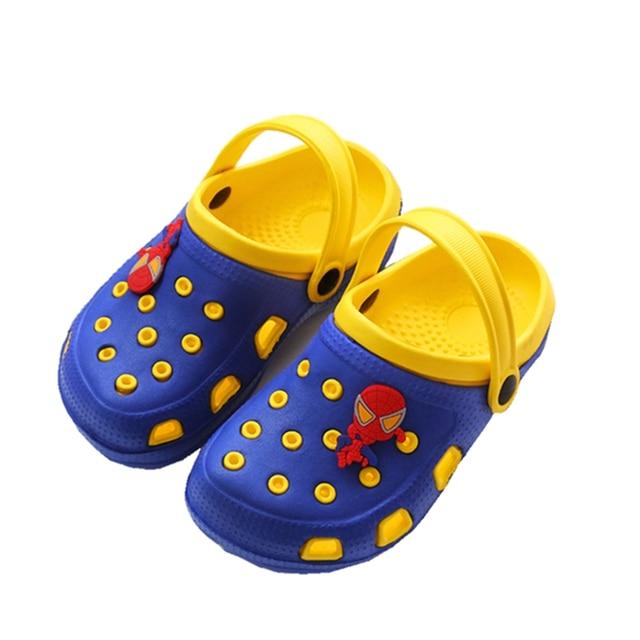 d1c872c36 Niños zapatillas zuecos verano casa planos niños de dibujos animados bebé  niñas lindo EVA antideslizante Soft