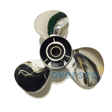 OVERSEE 664-45954-01-EL-00 Stainless Steel Propeller Size 9-7/8×12 For Yamaha Outboard Engine Motor 25HP 30HP 9 7/8×12