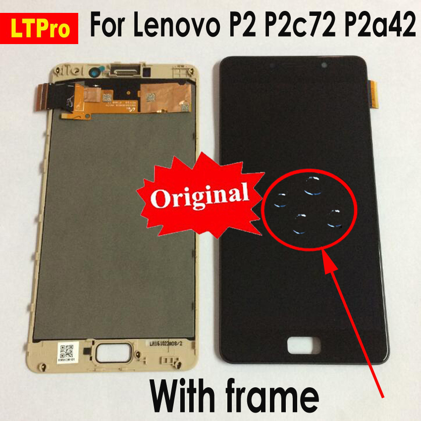 LTPro Original LCD For Lenovo Vibe P2 LCD Display Touch Screen Digitizer Assembly With Frame For
