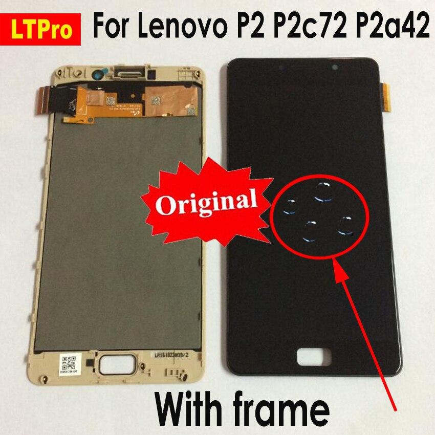 LTPro LCD original Pour Lenovo Vibe P2 écran LCD ensemble numériseur à écran tactile Avec Cadre Pour Lenovo P2 P2c72 P2a42 LCD Test