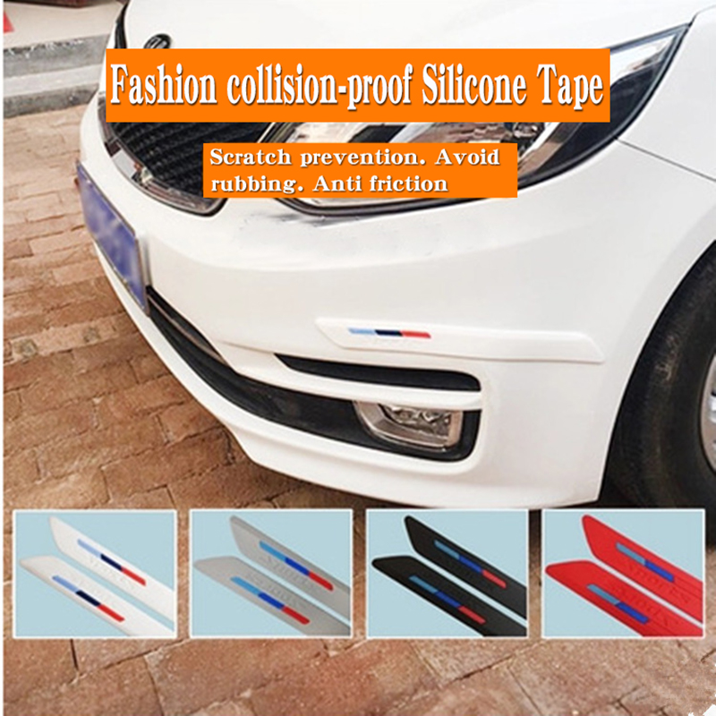 Car silicone gel anti-collision strip door side body anti-scratch protection