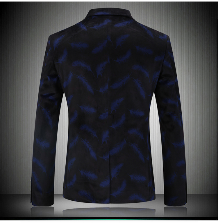 Blazer masculino nouvelle marque costume décontracté mode pièces Design Blazer hommes veste Blazers hommes mode affaires veste unique B - 2