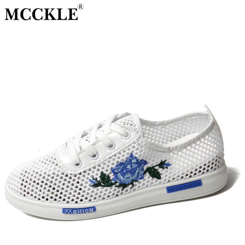 MCCKLE Women Casual Shoes Spring Autumn Lace-up Female Flat 2017 Hollow Woman Platform Comfortable Flowers Cut-outs Vulcanize mcckle 2017 fashion woman shoes flat women platform round toe lace up ladies office black casual comfortable spring