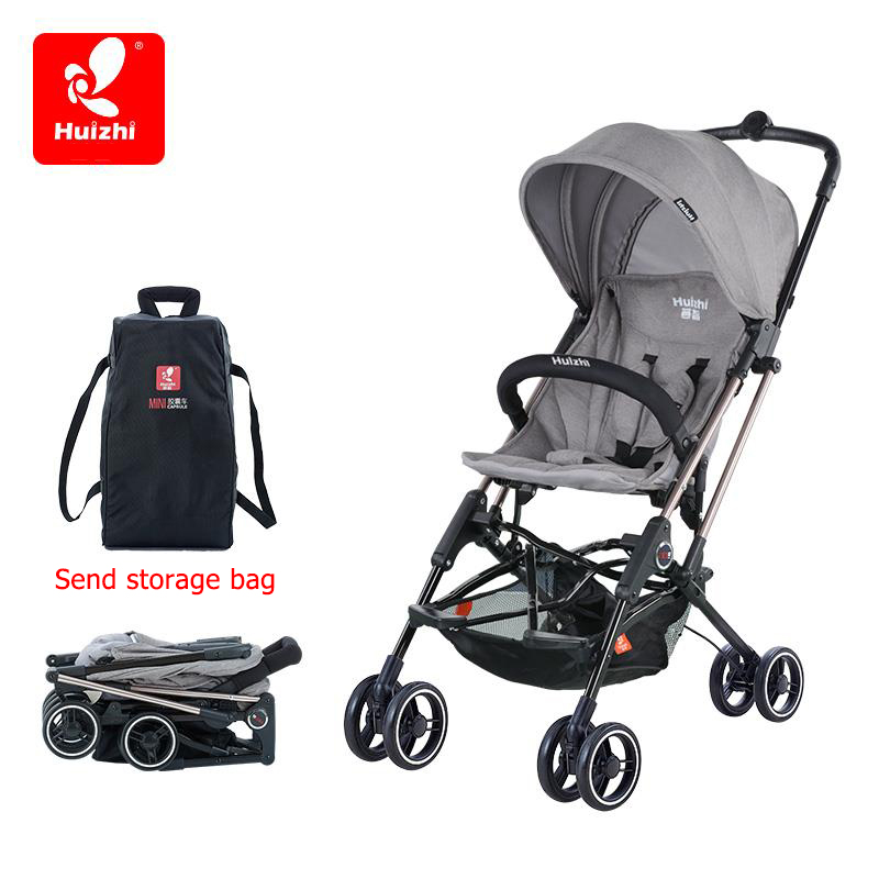 brand baby stroller light umbrella car four-wheel shock ultra-portable BB stroller folding baby carriages can be on plane baby stroller ultra light portable shock absorbers bb child summer baby hadnd car umbrella