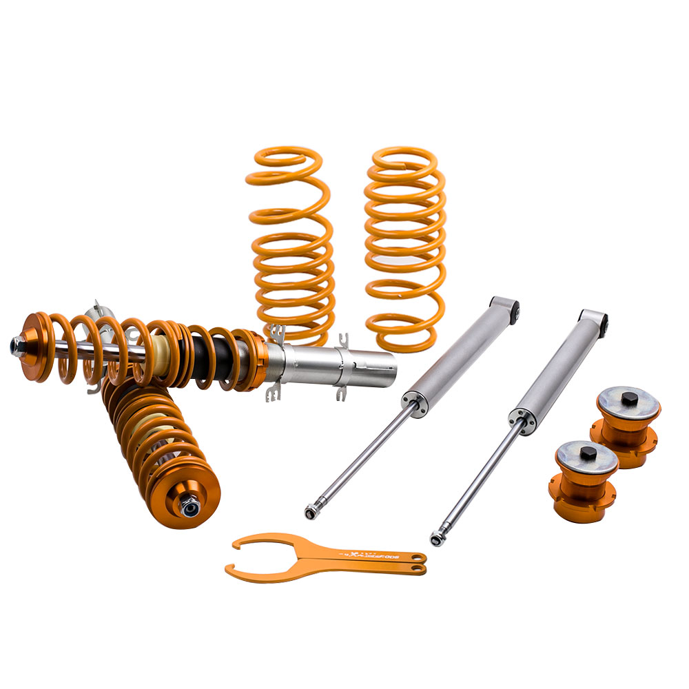 Coilovers Height Adjustable Suspension Shocks front kit for VW Golf Mk4 Bora 1J for 2.3V5 TDI GTI 1.8T All excl 4 Motion