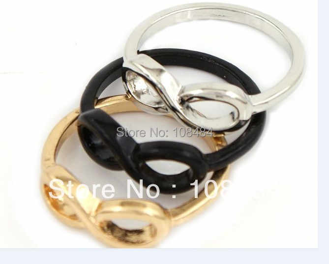 Fashion Rings Infinity Symbol Ring Korean Personality Punk Style European Charm Jewelry Wholesale LM-R083