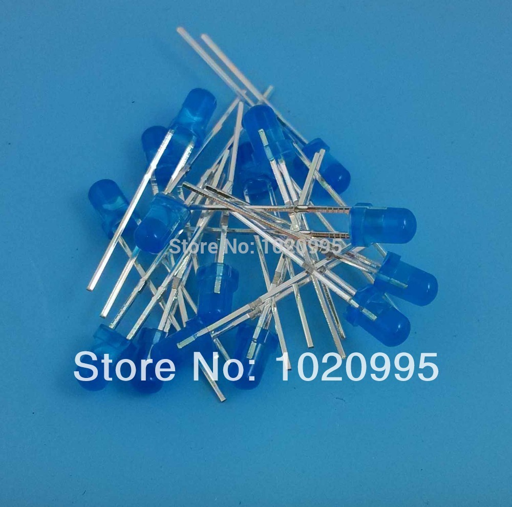 1000PCS/LOT Super bright diffused 3MM Blue <font><b>LED</b></font> light emitting diode <font><b>460nm</b></font> 3mm blue <font><b>LED</b></font> Round Free shipping! image