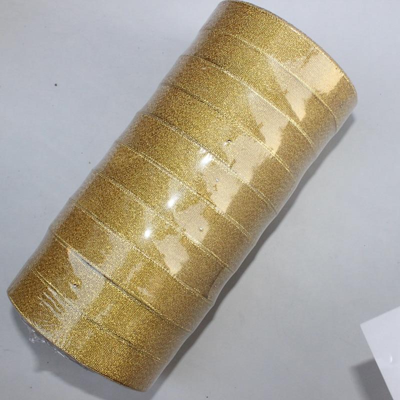 Ярдов/партия 250 3/4 »ширина 20 мм цвета: золотистый, серебристый край блеск золотой ленты подарок обёрточная бумага Золотой DIY интимные аксессуары