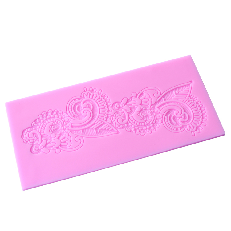1PCS 3D Flower Shape Lace Mold For Silicone Cake Tools, Fondant Bakeware Decorating, Candy, Cookie, Jelly Tools E074