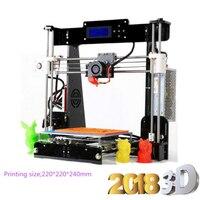 zrprinting A8 Reprap 3d printer Full Acrylic Assembly DIY 3D Printer Kit With Filament+Filament Holder