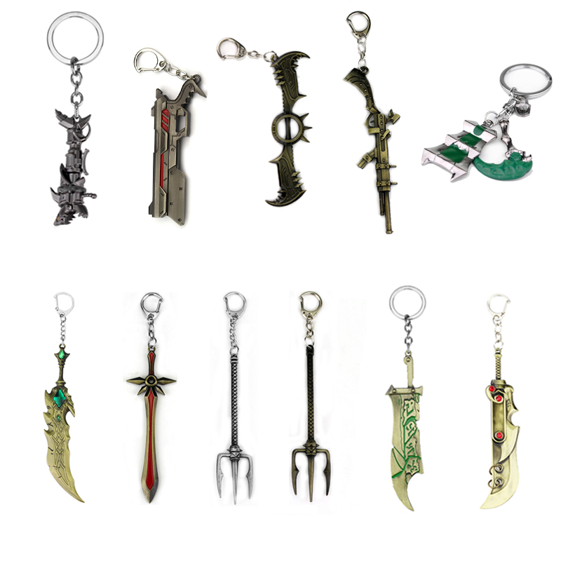 Hot Game LOL Thresh Weapon League Of Legendes Keychains Trendy Accessories Women Men Key Chain Chaveiro Dropshipping Wholesale