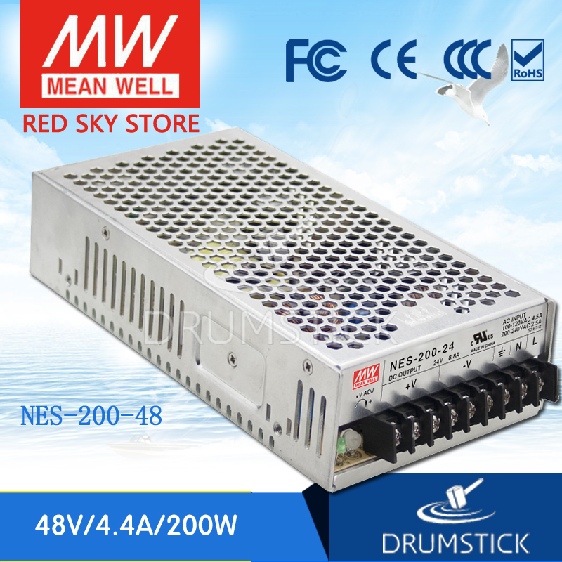 leading products MEAN WELL NES-200-48 48V 4.4A meanwell NES-200 211.2W Single Output Switching Power Supply [Hot1] original meanwell nes 350 24 ac to dc single output 350w 14 6a 24v mean well power supply nes 350