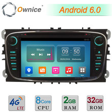 Android 6.0 Octa Core 4G 2GB+32GB Car DVD Multimedia Player For Ford Focus Mondeo Transit Connect S-max Galaxy Tourneo 2007-2012