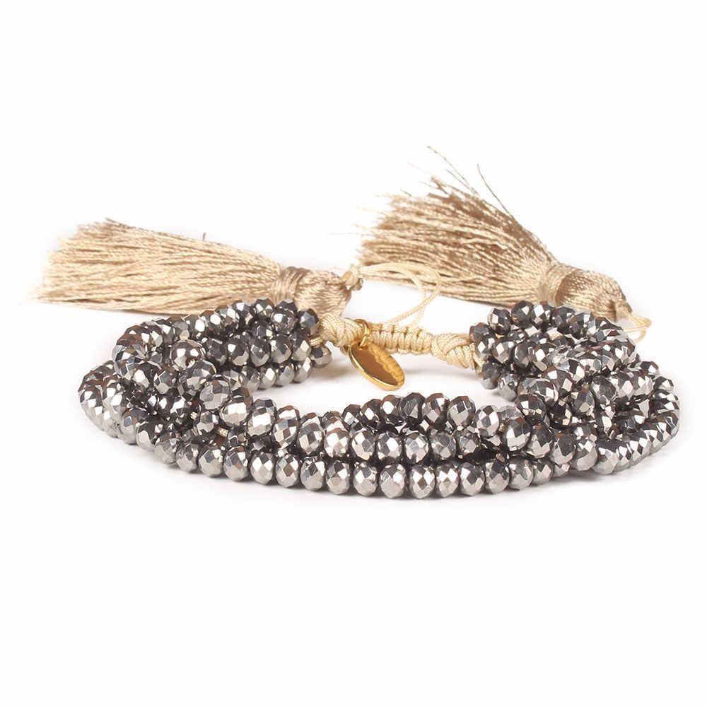 Go2boho Fit MIYUKI Bracelet Crystal Bracelets Women Mexican Pulseras Mujer 2019 Summer Tassel Jewelry Gift Factory Dropshipping
