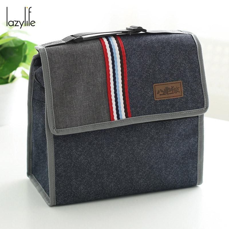 LAZYLIFE Fashion Picnic Thermal bag Oxford Cloth Insulated Lunch Bag Box For Kids Men And Women <font><b>Cooler</b></font> Thermo Food Bags