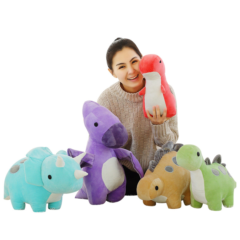1pc 30cm Colorful Plush Dinosaur Toys Stuffed Cute Doll Soft Cartoon Animal Kawaii Kids Toy Cute Children's Gift Brinquedos 1pc 16cm mini kawaii animal plush toy cute rabbit owl raccoon panda chicken dolls with foam partical kids gift wedding dolls