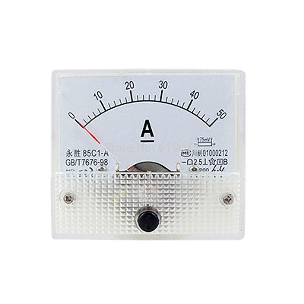 85C1-A 0-50A DC Analog Amperemeter Panel Meter Gauge