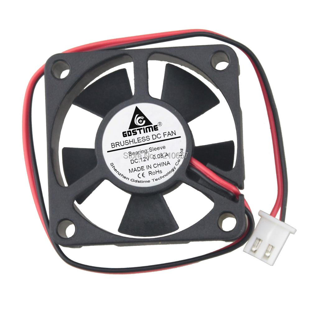 1PCS Gdstime Brushless Cooler Cooling Fan DC 12V 2Pin 35MM 35mm x 10MM gdstime 2 pcs 75mm x 15mm brushless 12 v 2pin dc cooling blower fan 7515 7cm 75x15mm 7 5cm