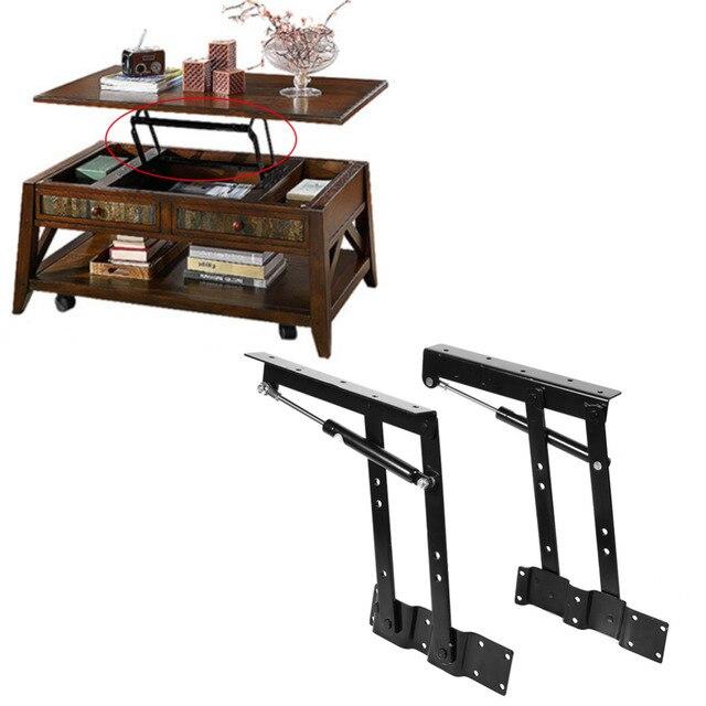 2xMulti functional levante arriba elevación mesa de café mecanismo ...