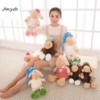 Amysh горячие игрушки Симпатичные пилот Сонная овечка творческий плюшевые игрушки, куклы овец 40 см одежда для малышей Детские игрушки, подарк...