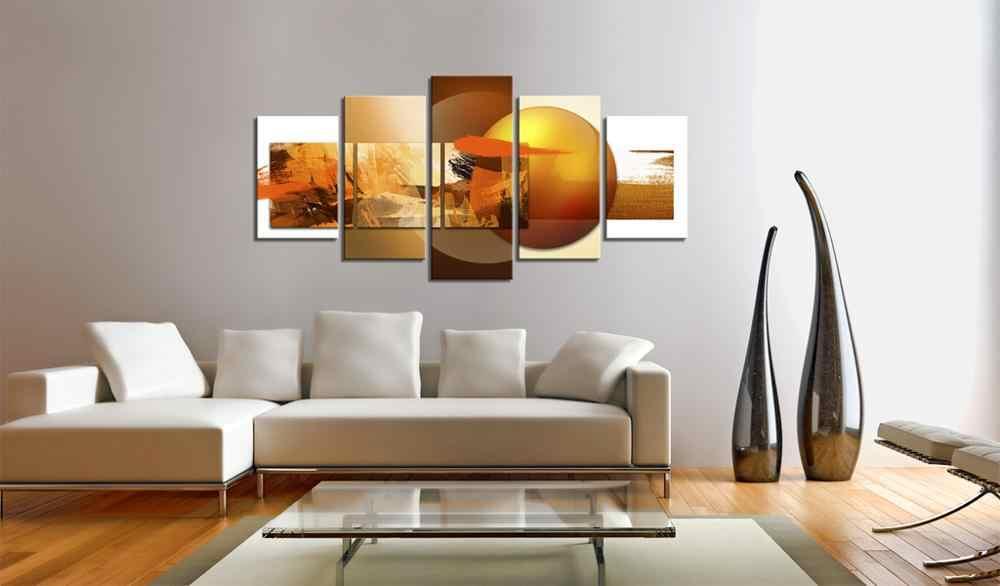 5 Buah/Set Abstrak Poster Gambar Cetak Lukisan Pada Kanvas Dinding Seni Dekorasi Rumah Ruang Tamu Kanvas Seni PJMT-B (144)