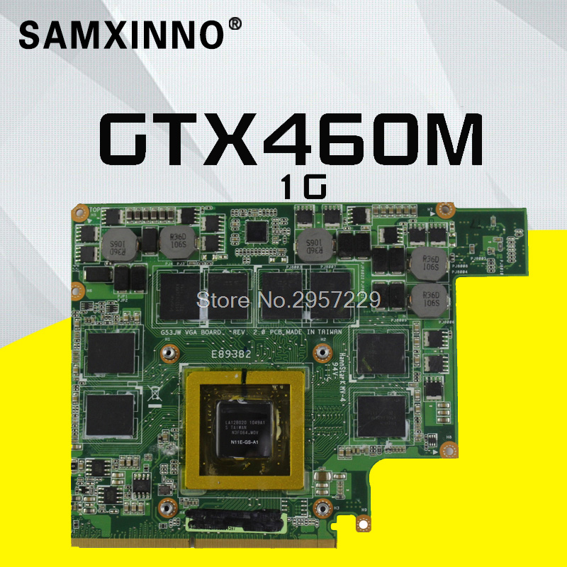 G73JW For ASUS G53JW G73SW G53SW G53SX VX7 VX7S GTX460M <font><b>GTX</b></font> <font><b>460</b></font> N11E-GS-A1 1GB DDR5 MXMIII VGA Video <font><b>Card</b></font> <font><b>Graphic</b></font> <font><b>card</b></font> image