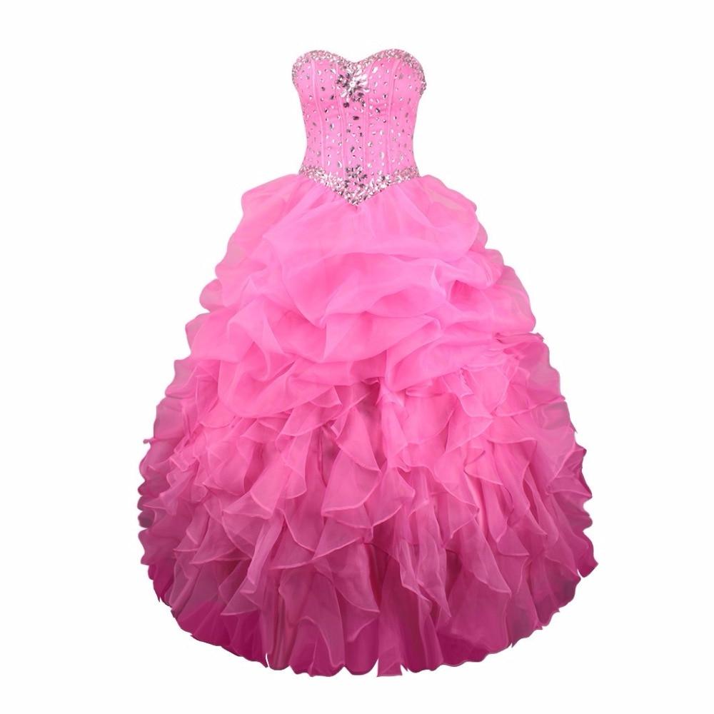 Rubí nupcial vestidos de fiesta Rosa rojo organza catch burbuja bola ...