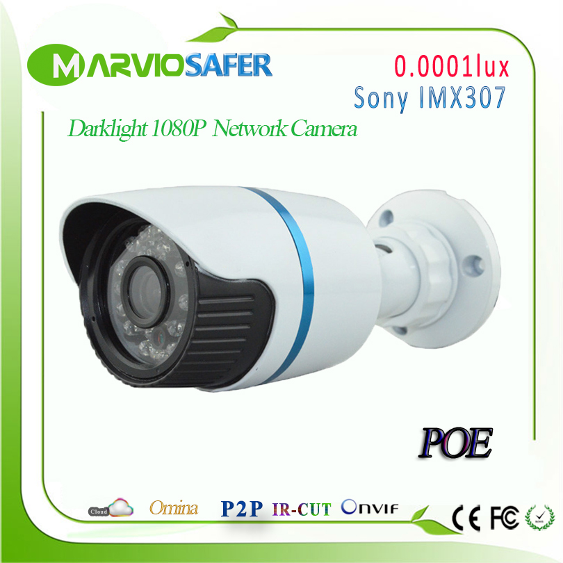 Marviosafer H.265 2.1MP Darklight IP POE CCTV Network Camera 1080P Starlight Colorful Night Vision Camara IPCam Onvif 0.0001lux marviosafer new h 265 5mp 2942x1944 1080p waterproof outdoor cctv network ip camera poe ipcam ip66 camara bullet onvif and rtsp