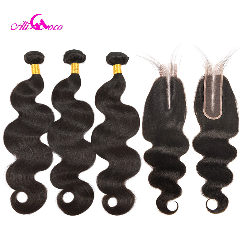 Ali Coco Brazilian Body Wave Hair 3 Bundles With 2 6 Closure 100 Human Hair 8
