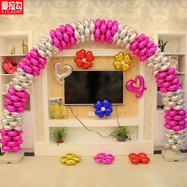 3m X 4 M Balloon Arch Decoration For Wedding Birthday Event Party Supplies Sets 80pcs Four Leaf Clover Balloons