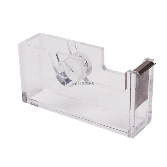 Clear Acrylic Tape Dispensers Set Modern Office Supplies Desktop Accessories  New