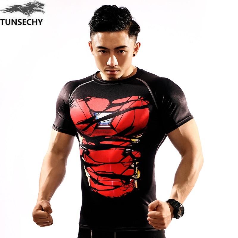 6e9c6d41d3 TUNSECHY Capitão América Camiseta 3D Impressos Camisetas Homens Vingadores  homem de ferro Guerra Civil Crossfit Topos Tee Roupas de Fitness Masculino